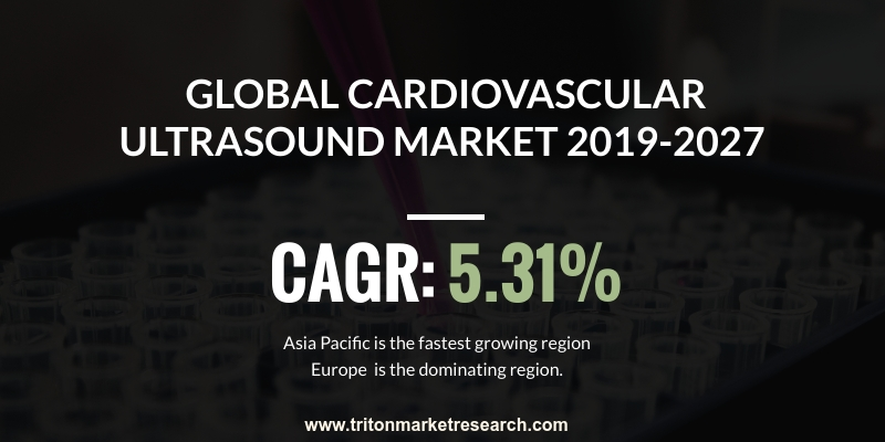global cardiovascular ultrasound system market is expected to display a positive market trend over the forecast period of 2019-2027, exhibiting a CAGR of 5.31%
