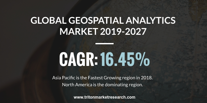 global geospatial analytics market is expected to display an upward trend in terms of revenue and is estimated to grow at a CAGR of 16.45%